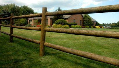 Wood Rail Fence Installation in Sugar Land